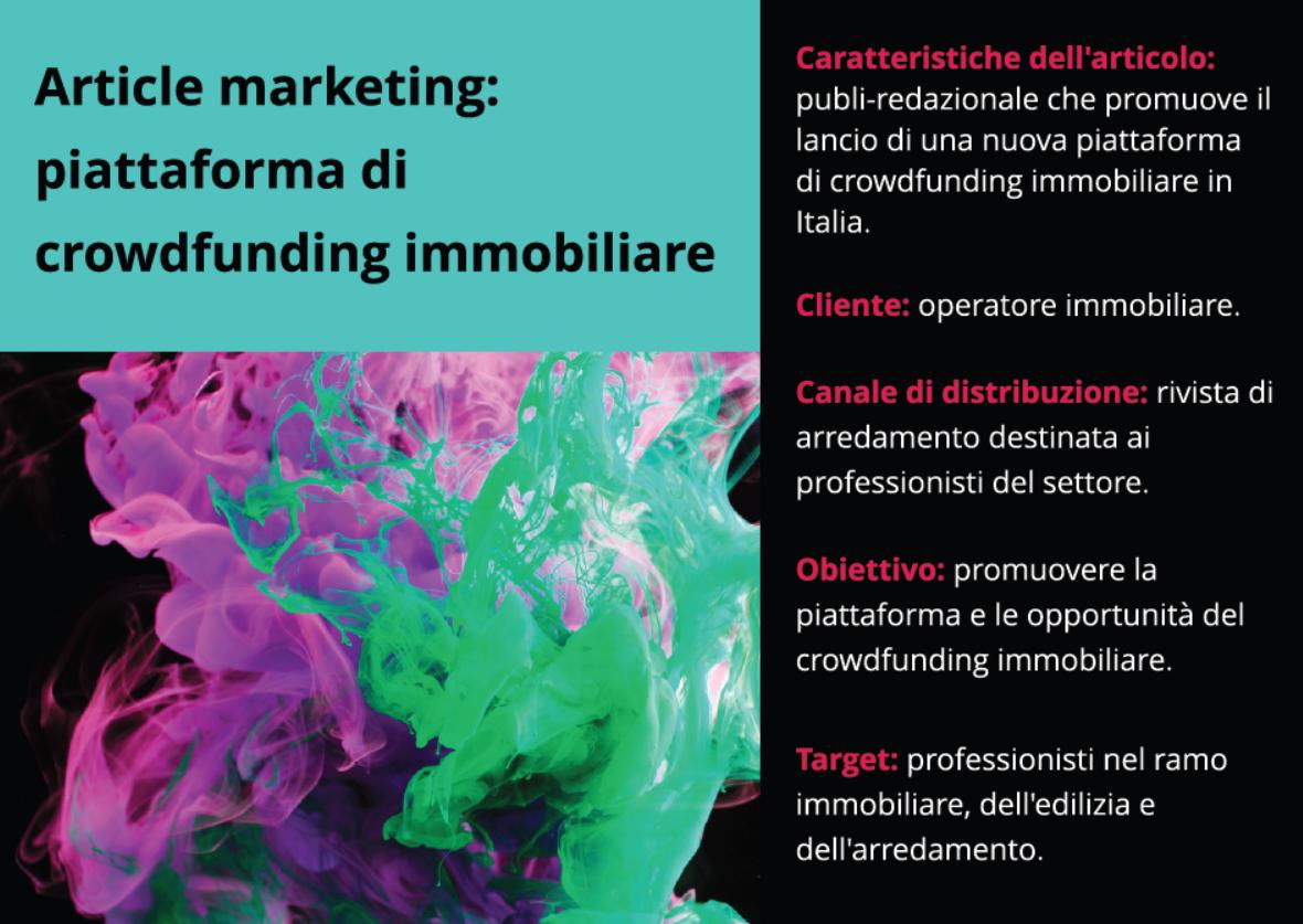 Article marketing: redazione di un pubbliredazionale per il crowdfunding immobiliare