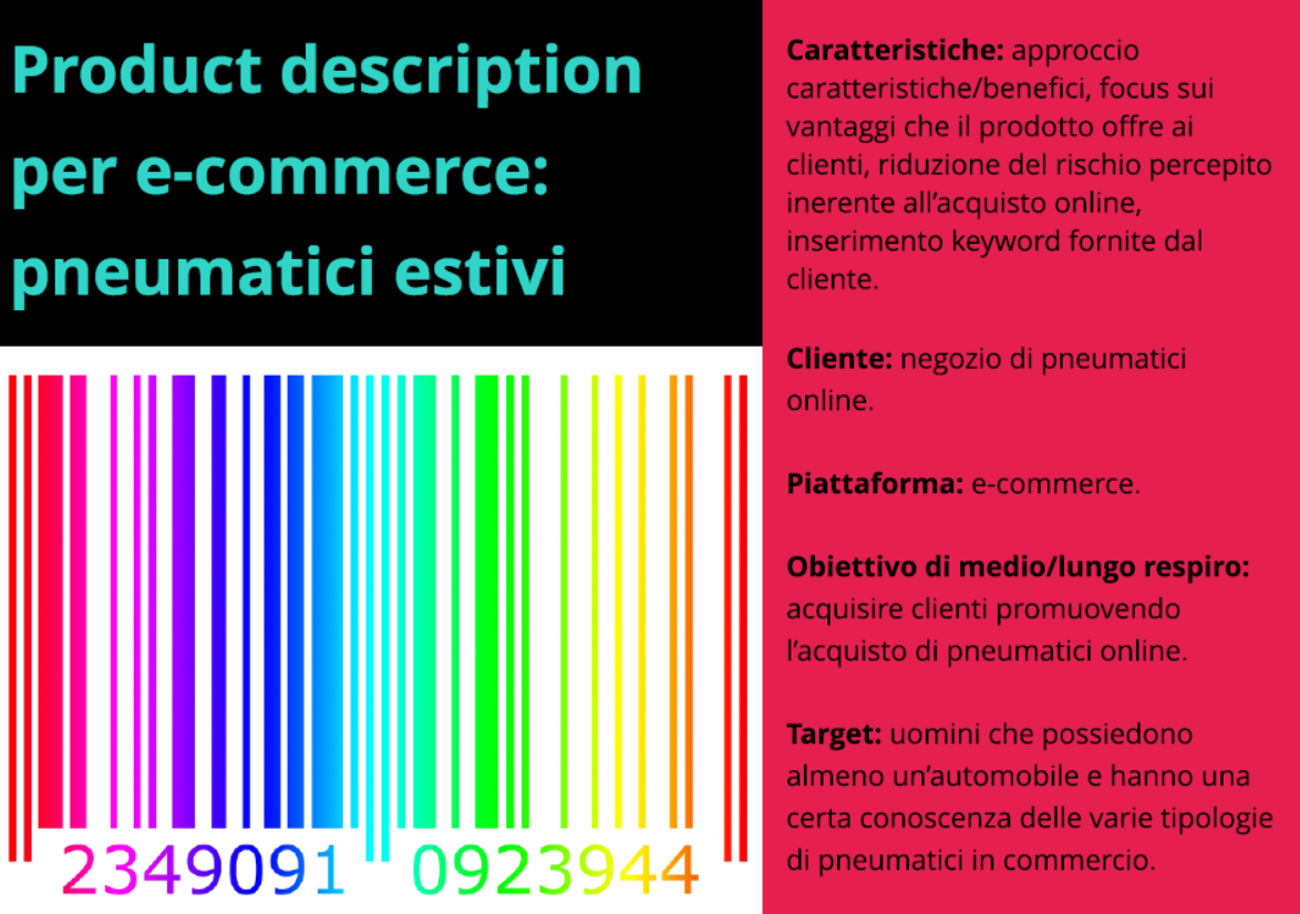 Product description per e-commerce ottimizzata SEO