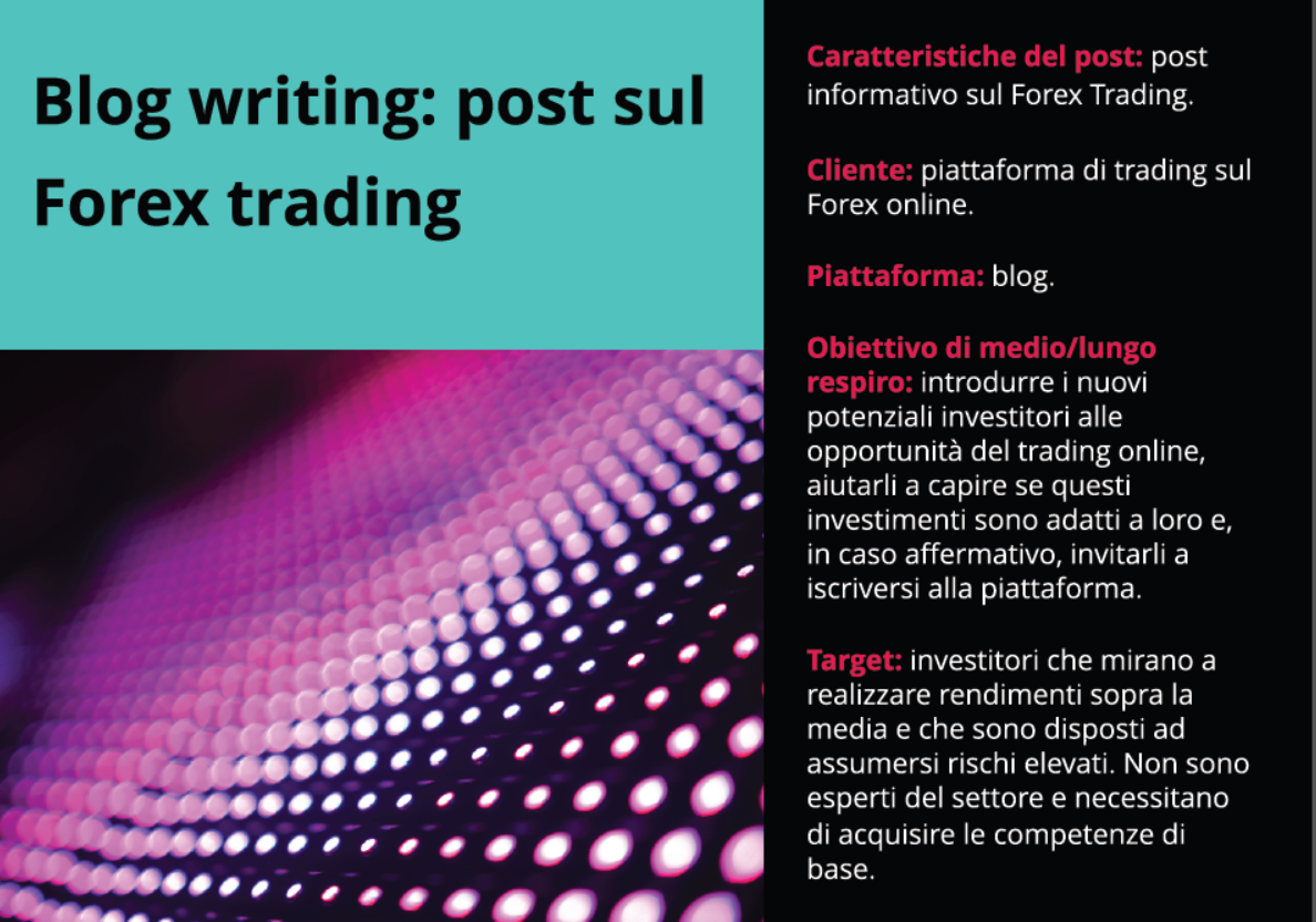 Post per blog sul Forex trading